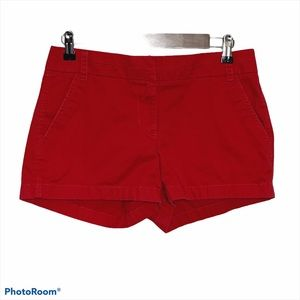 J Crew Red Chino Shorts Size 4